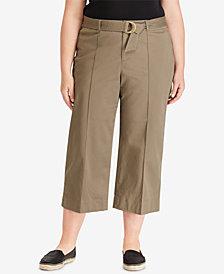 Lauren Ralph Lauren Plus Size Twill Trousers
