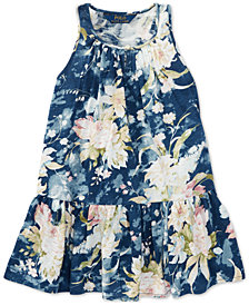Polo Ralph Lauren Floral Cotton Jersey Dress, Toddler Girls