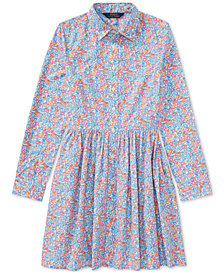 Polo Ralph Lauren Floral Cotton Poplin Shirtdress, Big Girls