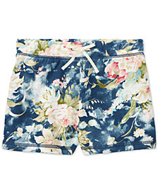Polo Ralph Lauren Floral French Terry Shorts, Big Girls