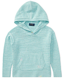 Polo Ralph Lauren Cotton Pullover Hoodie, Little Girls