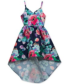 Rare Editions Embellished Floral-Print Dress, Big Girls