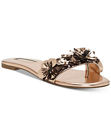 I.N.C. Women's Millay Floral Slip-On Flat Sandals, Created for Macy's
