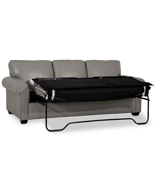 Orid 84 Queen Leather Sleeper, Created for Macy\'s