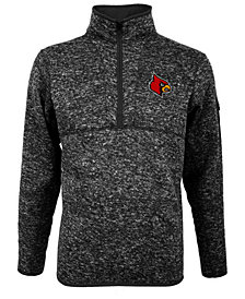 Antigua Men's Louisville Cardinals Fortune Quarter-Zip Pullover