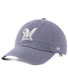 '47 Brand Milwaukee Brewers Dark Gray CLEAN UP Cap