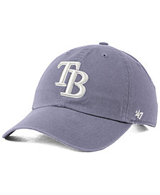 '47 Brand Tampa Bay Rays Dark Gray CLEAN UP Cap