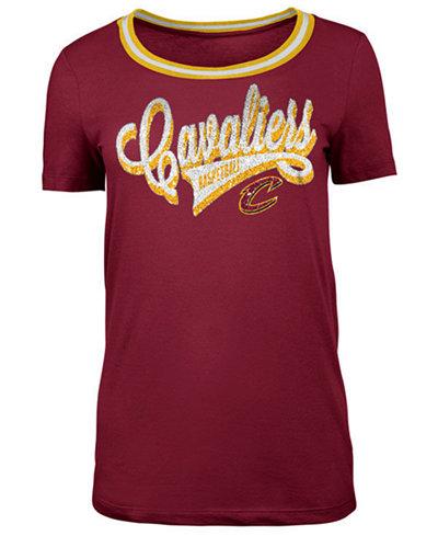 5th & Ocean Women's Cleveland Cavaliers Crew Trim T-Shirt