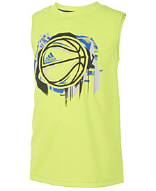 adidas Graphic-Print Tank Top, Little Boys