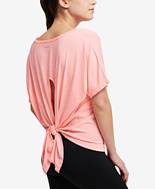 DKNY Sport Icy Wash Tie-Back T-Shirt