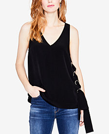 RACHEL Rachel Roy Sleeveless Lace-Up Top, Created for Macy's