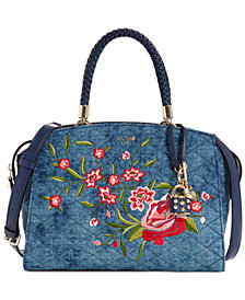 GUESS Heather Denim Satchel