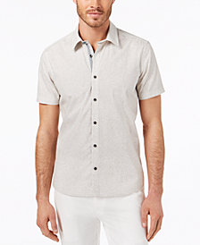 Ryan Seacrest Distinction™ Men's Slim-Fit Wave-Print Sport Shirt, Created for Macy's