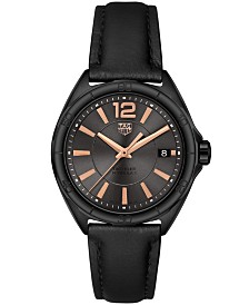 TAG Heuer Women's Swiss Formula 1 Black Leather Strap Watch 35mm