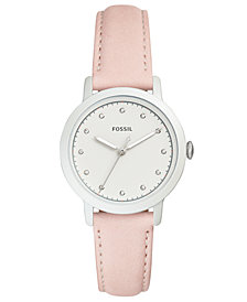 Fossil Women's Neely Beige Leather Strap Watch 34mm