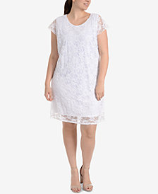NY Collection Plus Size Lace Shift Dress