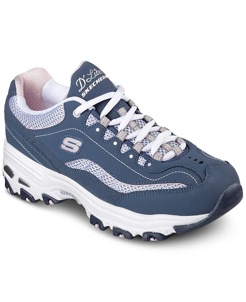 Skechers Women's D-Lites - Life Saver Wide Walking Sneakers from Finish Line T9OTJ6Dwd