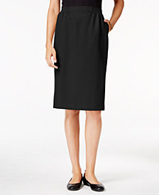 Alfred Dunner Petite Classic Pencil Skirt