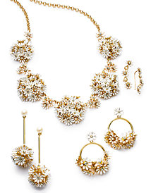 kate spade new york Gold-Tone Crystal Flower Jewelry Separates