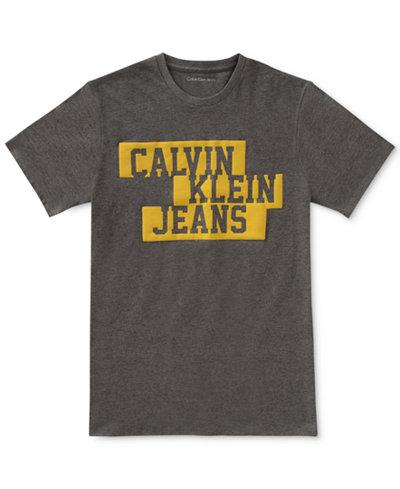 Calvin Klein Graphic-Print Cotton T-Shirt, Big Boys