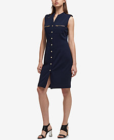 DKNY Button-Down Sheath Dress, Created for Macy's
