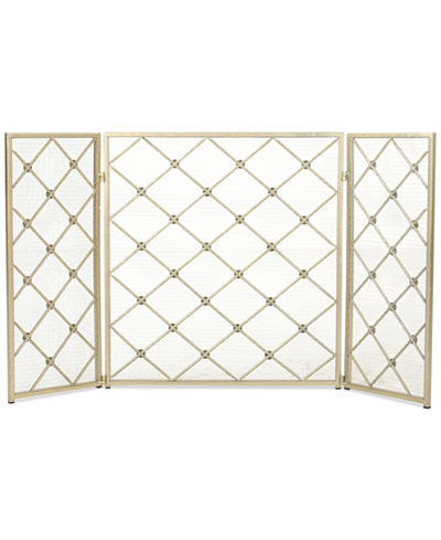 Three Panel 30'' Fireplace Screen, Quick Ship