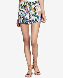 Sanctuary Wild Flower Printed Tie-Waist Shorts