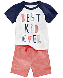 First Impressions Best Kid-Print T-Shirt & Shorts, Baby Boys, Created for Macy's