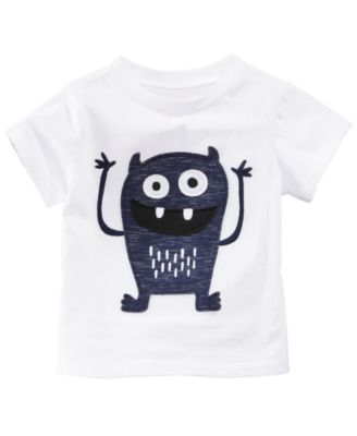 Monster-Print Cotton T-Shirt, Baby Boys, Created for Macy's