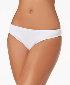 Bar III Ribbed Cheeky Hipster Bikini Bottoms, Created for Macy's