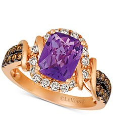 Le Vian® Nude™ Grape Amethyst™ (1-3/4 ct. t.w.) & Diamond (5/8 ct. t.w.) Ring in 14k Rose Gold