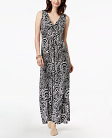 Charter Club Printed Maxi Dress, Created for Macy's