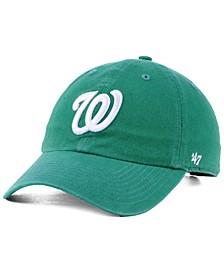 Washington Nationals Kelly White CLEAN UP Cap