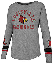 '47 Brand Women's Louisville Cardinals Courtside Long Sleeve T-Shirt