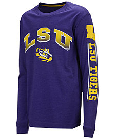 Colosseum LSU Tigers Grandstand Long Sleeve T-Shirt, Big Boys (8-20)