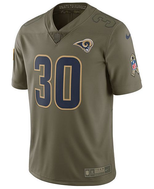 finest selection f9d25 ce48d Nike Men's Todd Gurley II Los Angeles Rams Salute To Service ...
