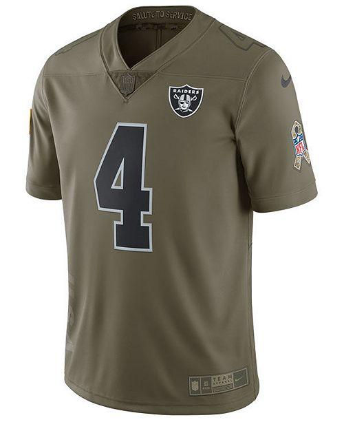 online store 63876 c644c Nike Men's Derek Carr Oakland Raiders Salute To Service ...