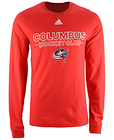 adidas Men's Columbus Blue Jackets Frontline Long Sleeve T-Shirt