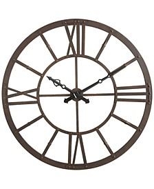 Round Rust Metal Wall Clock