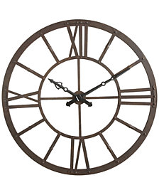 Round Rust Metal Wall Clock
