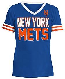 5th & Ocean New York Mets Rhinestone T-Shirt, Girls (4-16)