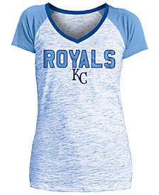 5th & Ocean Women's Kansas City Royals Space Dye Stone T-Shirt