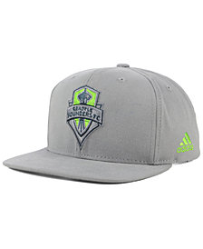 adidas Seattle Sounders FC Gray Snapback Cap