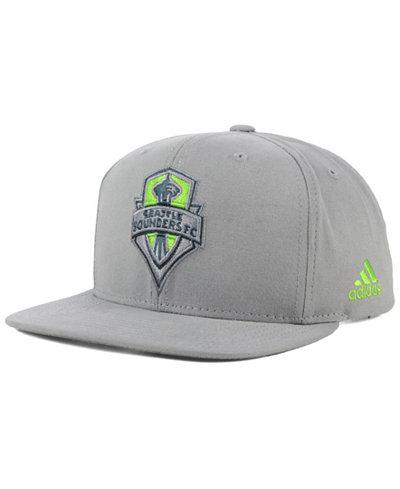 adidas Seattle Sounders FC Gray Snapback Cap