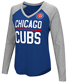 G-III Sports Women's Chicago Cubs Power Hitter Raglan T-Shirt
