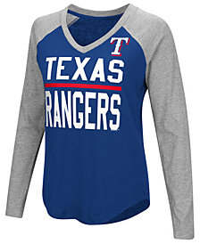 G-III Sports Women's Texas Rangers Power Hitter Raglan T-Shirt