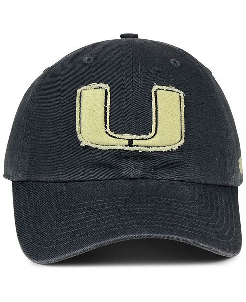 brand new 89f63 176b3 ... official store 47 brand miami hurricanes double out clean up cap sports  fan shop by lids