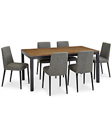 Gatlin Dining Furniture, 7-Pc. Set (Dining Table & 6 Dining Chairs), Created for Macy's