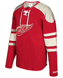 CCM Men's Detroit Red Wings Laces Crew Shirt