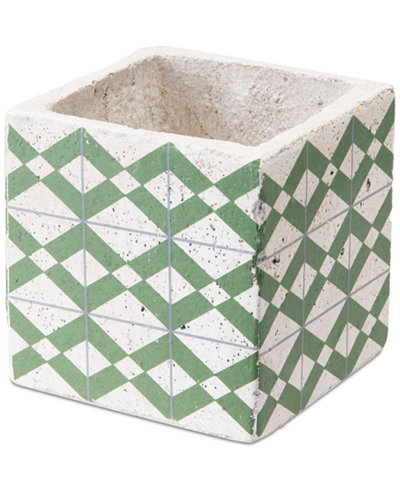 Zuo Cement Tribal Planter Green And Yellow
